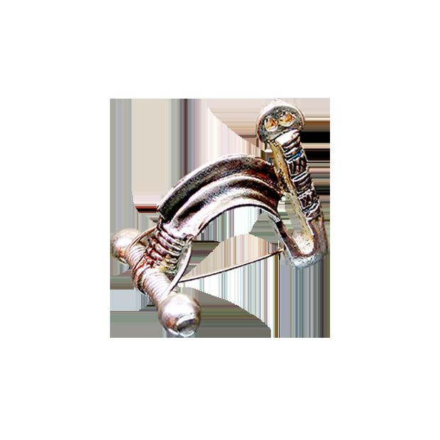 Fíbula carpetana de Santorcaz de plata