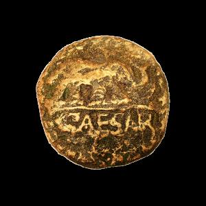 Moneda romana Caesar (imán) replica en escayola del famoso denario de Julio César.