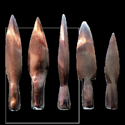 Puntas de metal medianas pulidas
