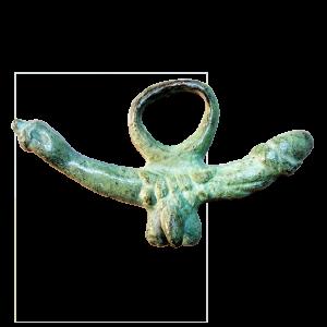 Amuleto fálico romano Modelo C