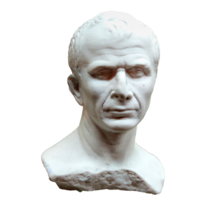 Julio César de Arles. Busto de Julio César reproducido en resina