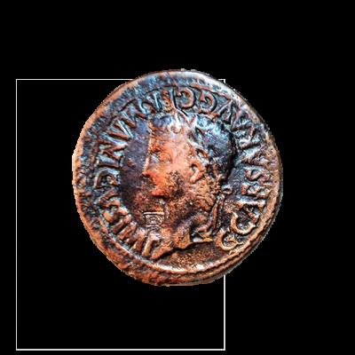 Dupondio de bronce de Caesaraugusta