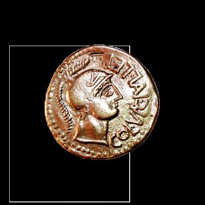 As de bronce de la colonia Lépida