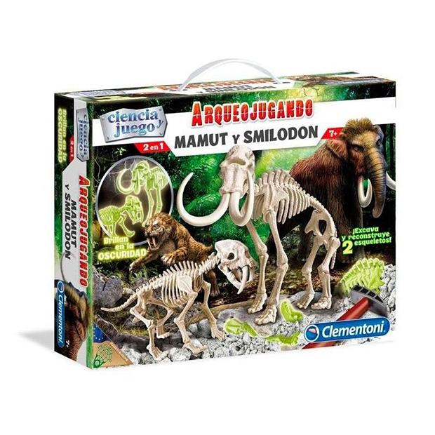 Mamut y Smilodon ¡Excava como un autentico arqueólogo y descubre la lucha más feroz y espectacular de la edad de hielo!