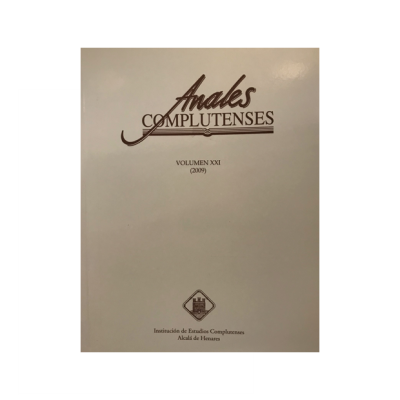 Anales Complutenses, Volumen XXI
