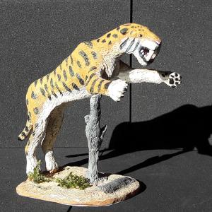 Machairodus, reproducción del feroz dientes de sable del mioceno