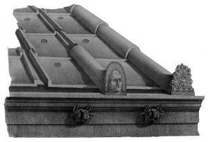 Antefixa o antefija romana