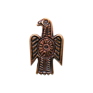 Fíbula visigoda aquiliforme en bronce