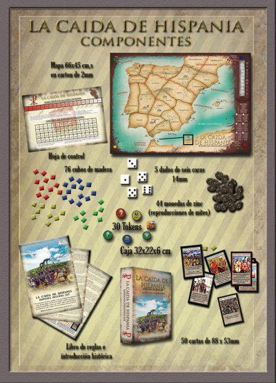 La caída de Hispania, componentes