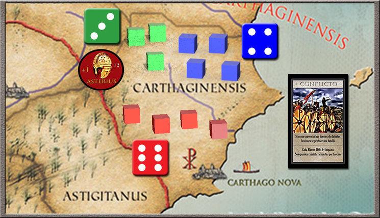 La caída de Hispania, ejemplo de combate