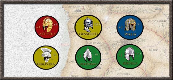 Líderes del juego en la versión a 4 jugadores