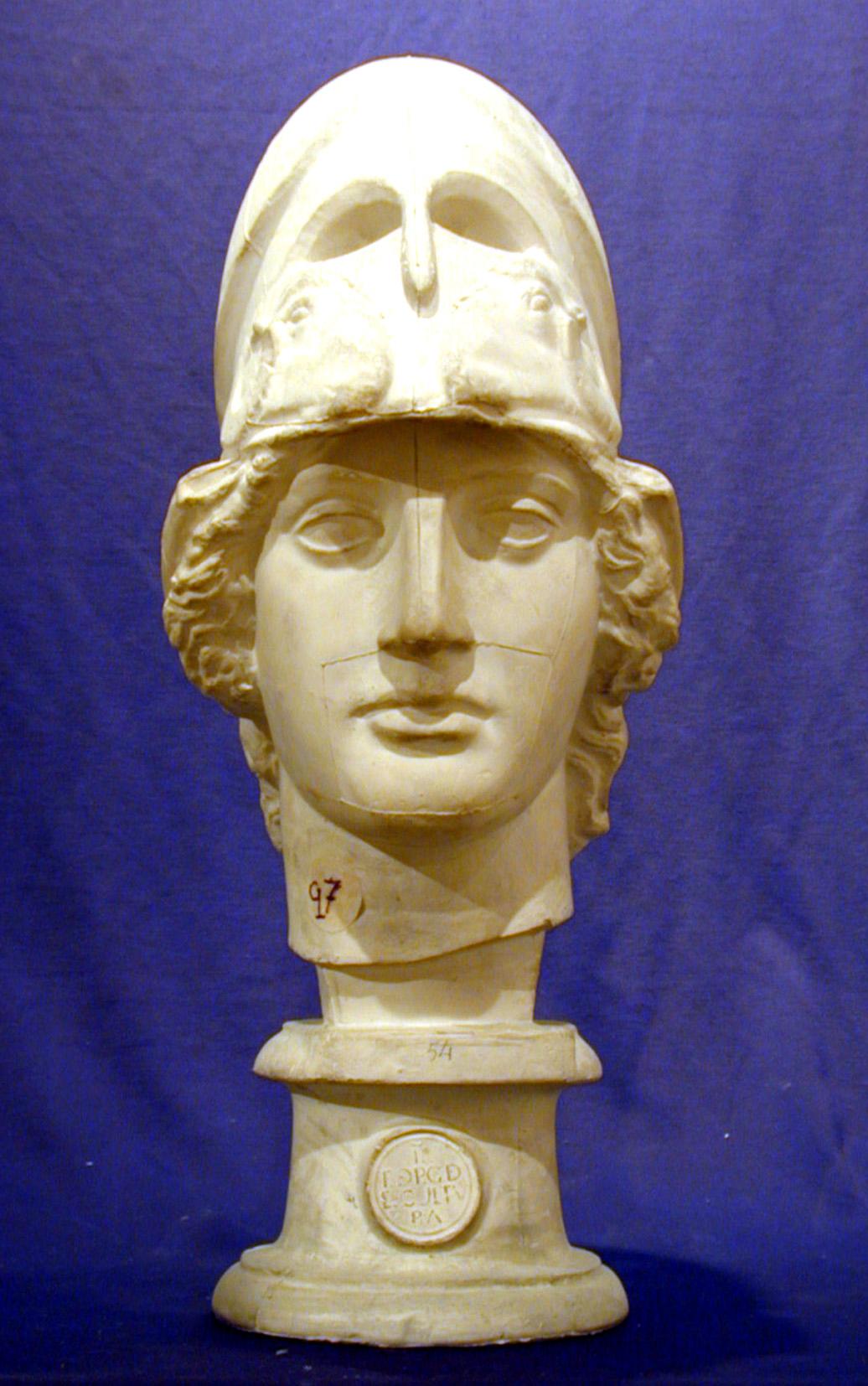 Busto Atenea Giustiniani, vaciado original