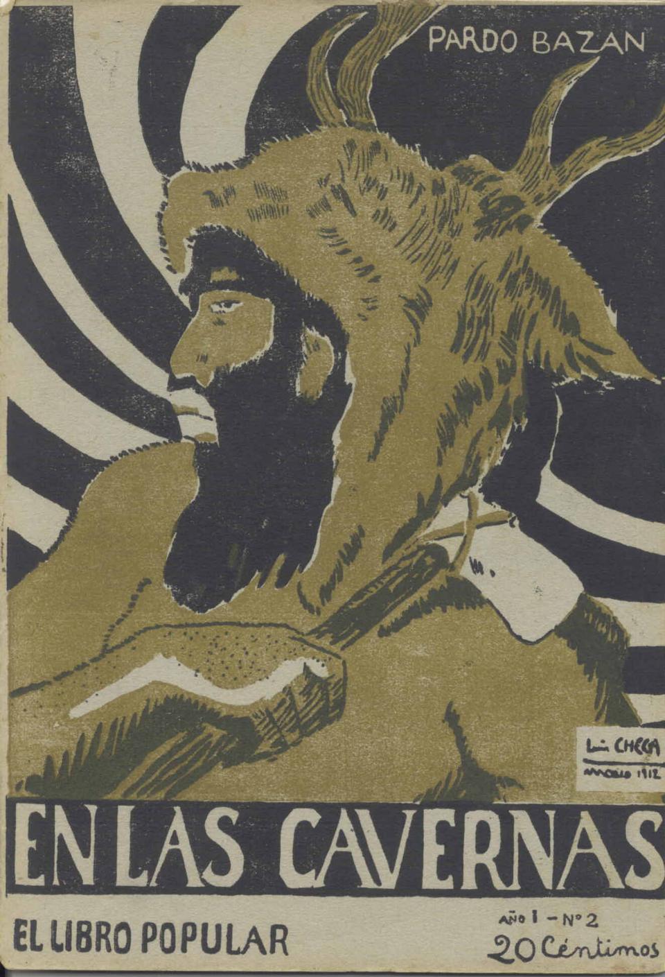 Portada de la primera edición de En las cavernas por Checa