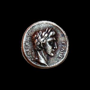 Denario de plata de Octavio Augusto