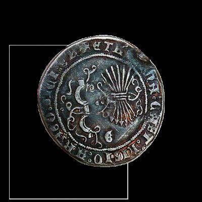 Real de plata de los Reyes Católicos_reverso