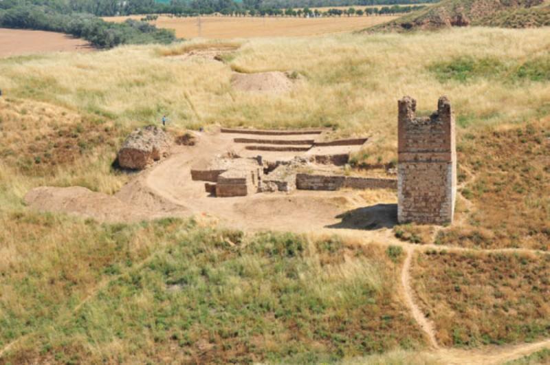 El yacimiento de Alcalá la vieja sobre el cerro Veracruz