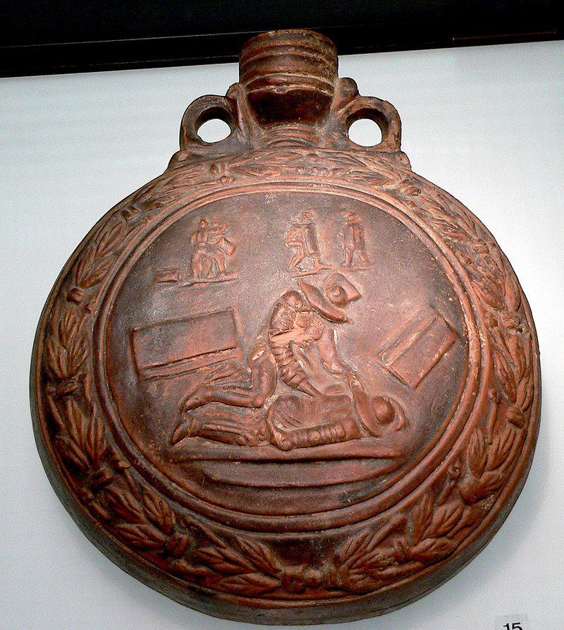 Cantimplora de legionario romano del siglo II. Museo Romano-Germánico de Colonia.