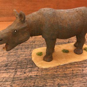 Aceratherium incisivum, reproducción artesanal pintada a mano edición limitada del rinoceronte sin cuerno del Mioceno