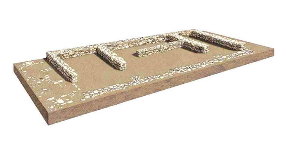 Las viviendas del Oppida del Llano de la Horca oscilan en una superficie media de entre los 70 y los 90 m2, estaban construidas sin cimientos, pero con un zócalo realizado en piedra caliza