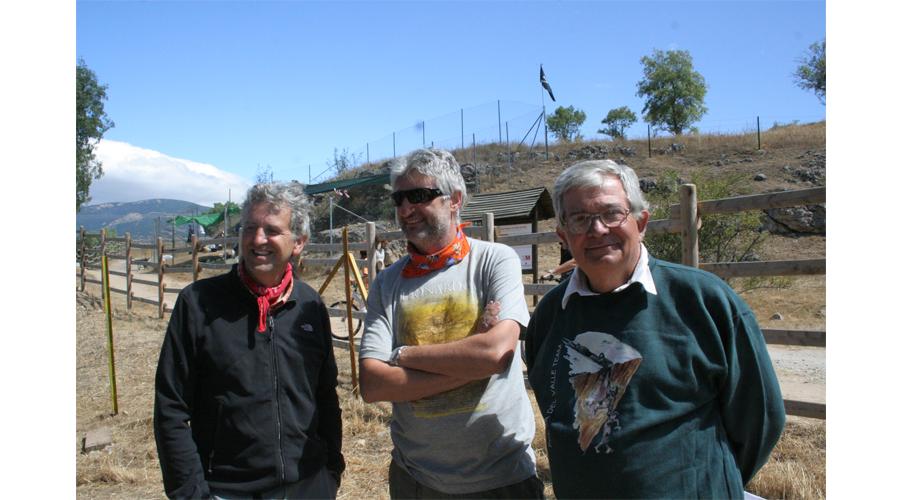Los Directores del yacimiento: Juan Luis Arsuaga (UCM-Carlos III), Enrique Baquedano (MAR) y Alfredo Pérez-González (CENIEH).