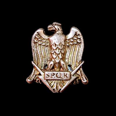 Águila romana de plata sin pátina