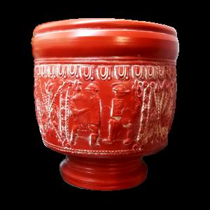 Vaso cilíndrico de terra sigillata hispánica Drag 30