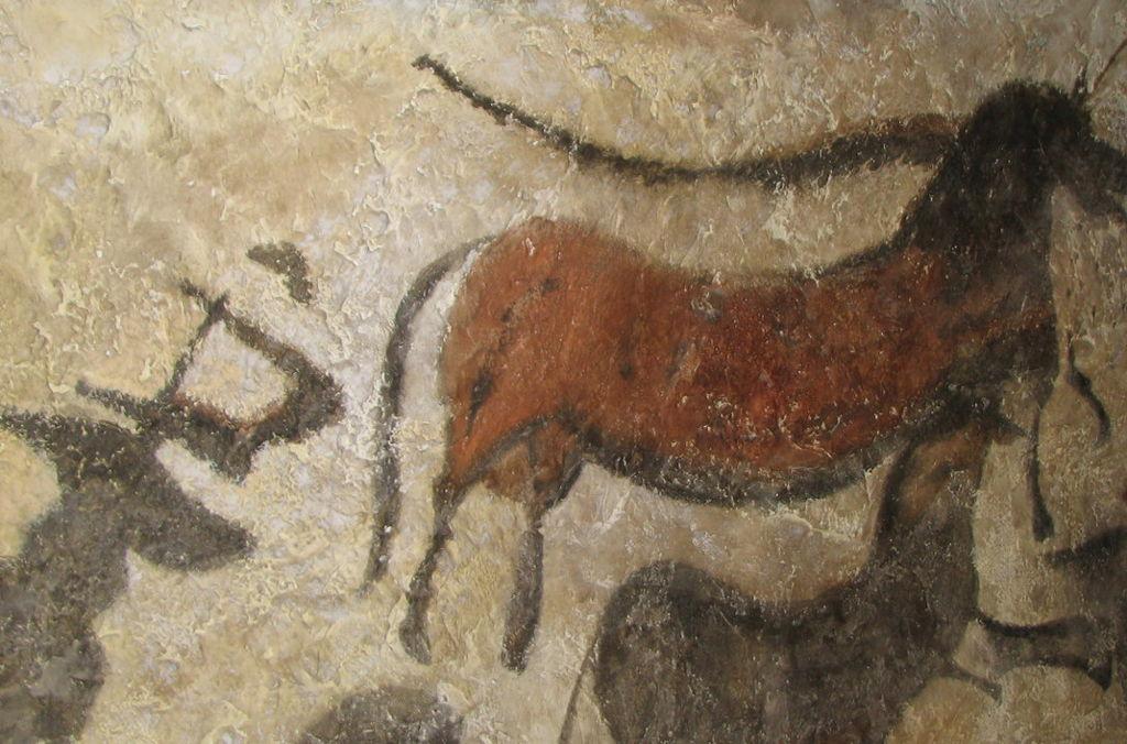 Ilustración de un tarpán en una cueva de Lascaux.