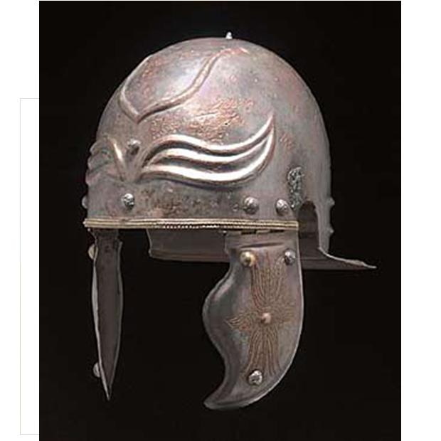 Casco Romano Imperial Gálico Weisenau-Guttman Museo Arqueológico Nacional de Madrid