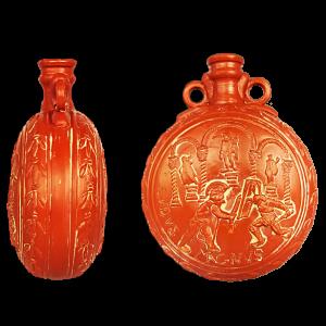 Cantimplora romana en terra sigillata con gladiadores
