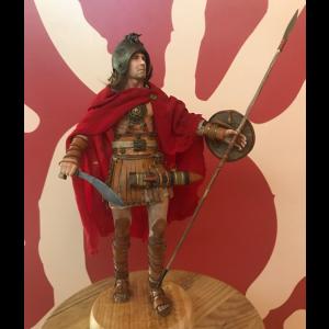 Figura artesanal de Guerrero Ibero I escala 1/6. Pieza única y exclusiva